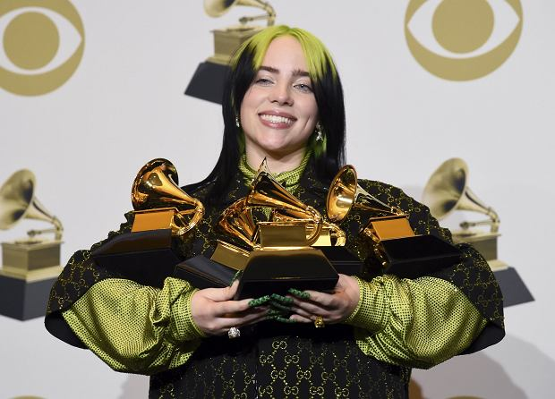 Billie EIlish z nagrodami Grammy